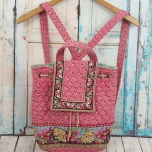 VERA BRADLEY Pink Pansy Mimi Backpack RETIRED